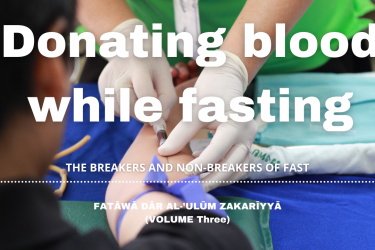 Donating blood while fasting