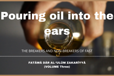 Pouring oil into the ears