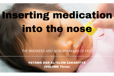 Inserting medication into the nose