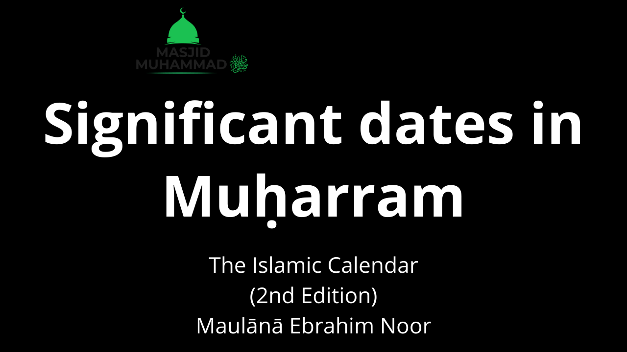 Significant dates in Muḥarram